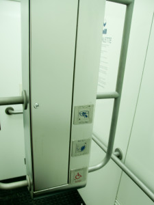 Bedienelemente der City-Toilette