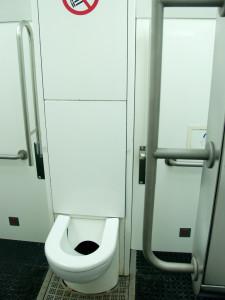 City-Toilette von innen