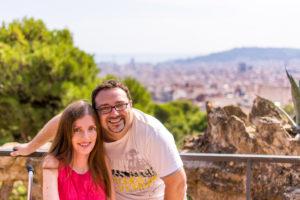 Adina und Timo in Barcelona