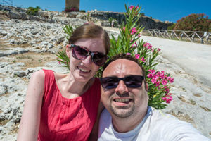 Adina und Timo - Selfie in Siracusa, Sizilien